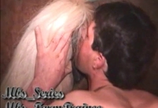 Licking horse asshole with pleasure