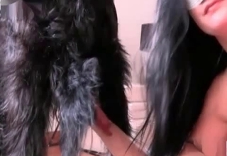 Zoophilic whore and her awesome trained doggy